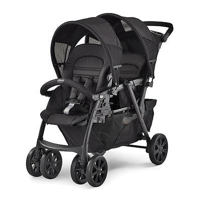 New Chicco Cortina Together Double Stroller - Obsidian Model:21212346