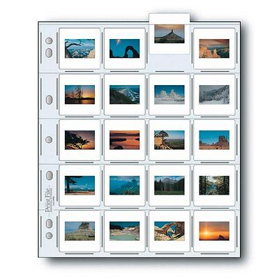 Print File 2x2-20B Archival Storage Page for 20 Slides - Pack of 25 - 050-0270