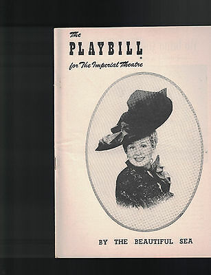 By The Beautiful Sea Playbill Shirley Booth November 22 1954