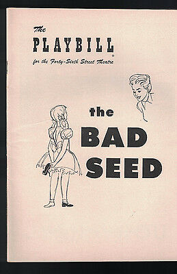 The Bad Seed Playbill December 20 1954 Nancy Kelly