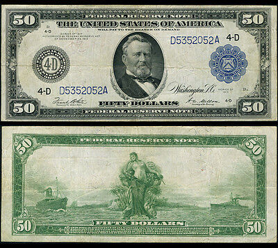 FR. 1039 A $50 1914 Federal Reserve Note Cleveland Very Fine+