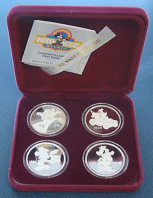 Rarities Mint .999 Fine Silver Disney Hollywood Mickey Silver Rounds Proof Set