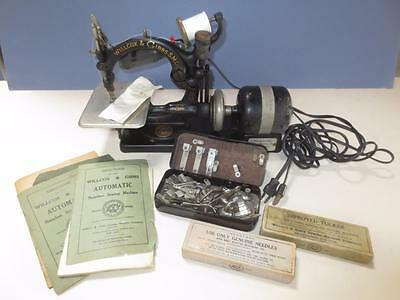 antique Willcox & Gibbs vintage sewing machine electric model A689318