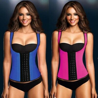 Corset Body Shaper Latex Rubber Waist Trainer Cincher Underbust Slimming Cincher