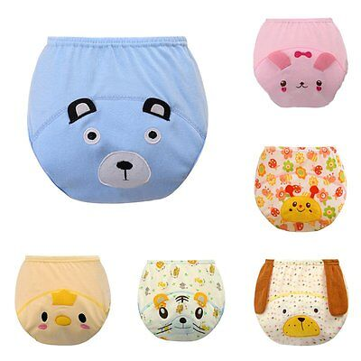Breathable Baby Nappy Cover Pants Briefs Waterproof Leakproof Washable Diaper