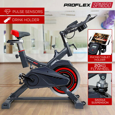 NEW PROFLEX Spin Exercise Bike - Flywheel Commercial Home Fitness Equipment Gym