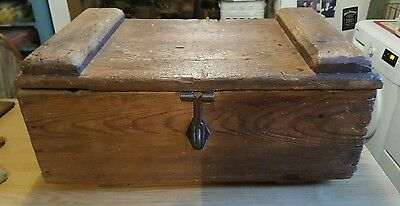 Lovely small old pine box quirky lots of character