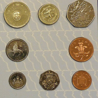 1994 Uncirculated UK Year set BU 8-coin Royal Mint pack