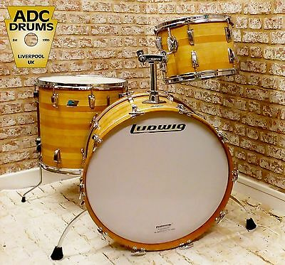 Vintage 1970s Ludwig Super Classic Drum Kit Butcher's Block Cortex (13/16/22)