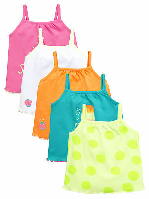 Ladybird Pack Of Five Bright Summer Vests