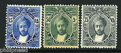 ZANZIBAR 1914 x3 MINT HINGED WITH GUM SG 266-269 [A5