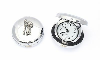 Pewter Bowler Style Alarm Clock Portable Ideal Bowls Gift