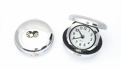 Bowls and Jack Black Enamel Style Alarm Clock Portable Ideal Bowls Gift 040