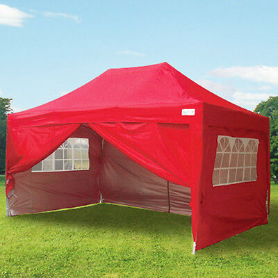 Quictent 3 x 4.5 Pop Up Gazebo Red Party Tent
