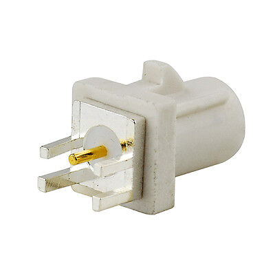 Fakra White B Male End Launch PCB Mount Connector for Radio With Phantom