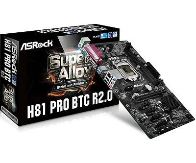 ASRock H81 Pro BTC R2.0 - ATX Motherboard for Intel Socket 1150 CPUs