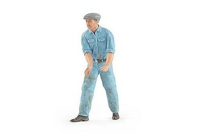 Figutec 1:18 Mechanic Figurine Stepping to the Right - Light Blue Uniform