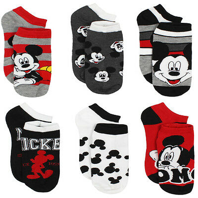 Mickey Mouse Womens 6 pack Socks (Teen/Adult) Disney 9678FH