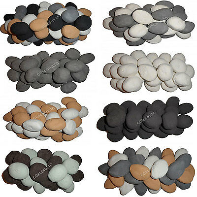 20 Gas Fire Replacement Ceramic Universal Realistic Pebbles 4 Gas Coal Fires++++