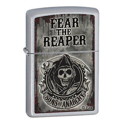 Zippo Lighter Fear The Reaper / Satin Chrome