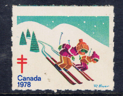 Canada #77(8) 1978 Christmas Seals CHILDREN SKIING MNH