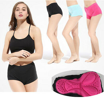 Women Bicycle Cycling Underwear Bike Shorts Briefs Pants Gel 3D Padded S-3XL