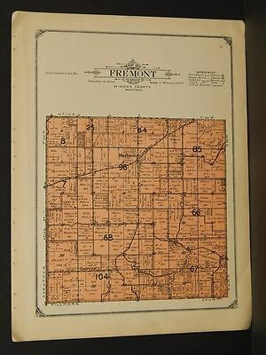 Minnesota Winoa County Map Fremont Township   1914   W4#98