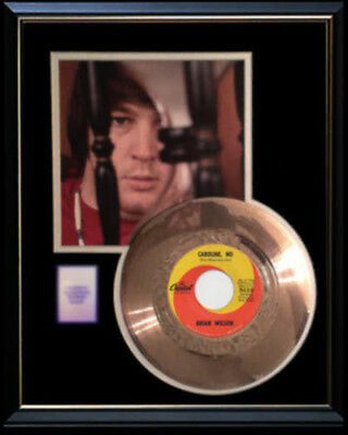 Brian Wilson Beach Boys Caroline No Rare Gold Record Disc 45 Rpm Original Rare!!
