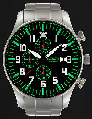 ASTROAVIA XXL AIR CRAFT 10E NEW EDITION 6 ZEIGER CHRONOGRAPH 46mm FLIEGERUHR N23