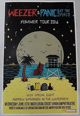 Weezer & Panic! At The Disco 2016 * ORIGINAL CONCERT POSTER * FREE US SHIPPING !