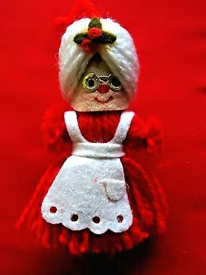 Hallmark Ornament  1973 Mrs. Santa Yarn Ornament