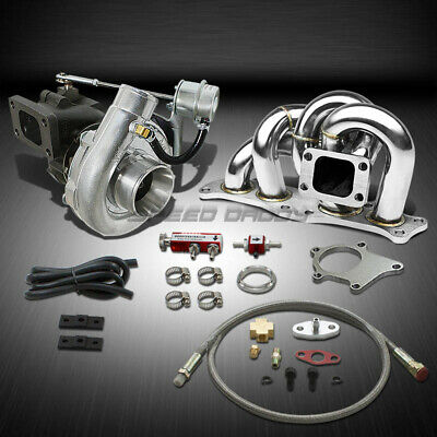 T04 .63Ar 400+Hp Boost 5Pc Turbo Charger+Manifold Kit For 3Sgte Mr2/celica/gt-S