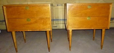 Exceptional Mid Century Modern Rare Stunning EDMUND SPENCE Side End Tables