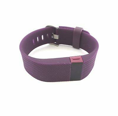 Fitbit Charge HR Activity Sleep and Heart Rate Tracker Wristband Size Large Plum