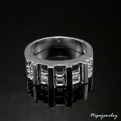 Ring Setting Sterling Silver 4x4 mm. Square. size 8.75