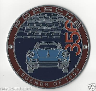 Porsche 356 Grill Badge Club Plakette Legends of 1963 ltd. Edition neu