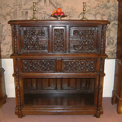 Early 16th Century Gothic period Oak court cupboard dating from c 1520