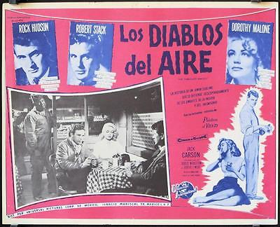 L662 THE TARNISHED ANGELS Mexican movie  lobby card '58 Rock Hudson Robert Stack