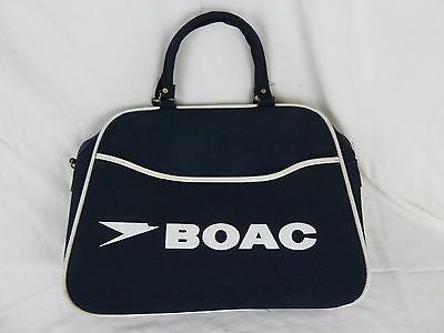 1960's BOAC British Overseas Airways Corp Carry on Travel Bag Tote