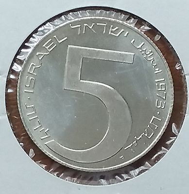 1973 ISRAEL 5 Lirot Proof Silver Coin . KM#75.2  , Uncirculated