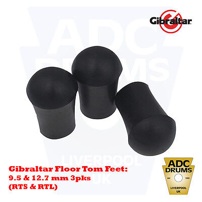 Gibraltar Rubber Floor Tom Feet: Small & Large (Drum Kit 9.5 mm RTS/12.7 mm RTL)