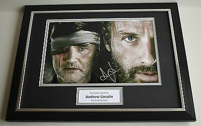 Andrew Lincoln SIGNED FRAMED Photo Autograph 16x12 display Walking Dead COA