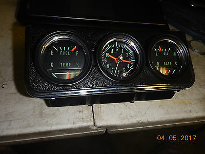 1967 Chevy Camaro New Console Gauges Ss Rs Z/28 327/396 67 Coupe Convertible