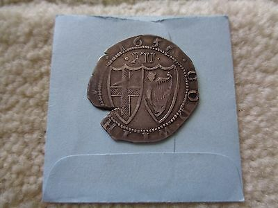 1656 England Great Britain 1 Shilling silver coin Rare
