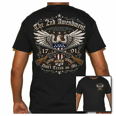 Mens Black Biker Life T-Shirt - 2nd Amendment Protect Our Rights Guns