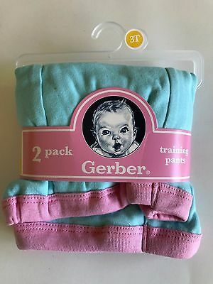 Gerber Training Pants 2 pack 3T 100% COTTON NWT
