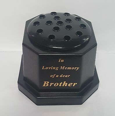 In Loving Memory Grave Or Memorial Flower Vase For Brother