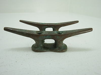 Pair 3+1/2 Inch Bronze Cleats Ship Sail Boat Dock Brass (#1799)