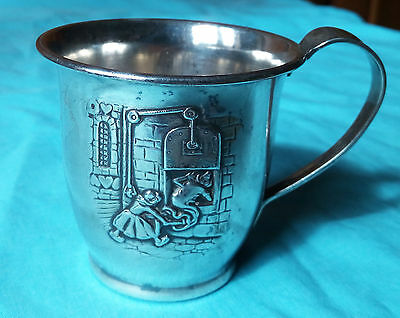 1930s SILVER CUP SHOWING HANSEL AND GRETEL DESIGNER GEORG NILSSON