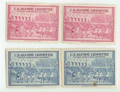 1948 London England Olympics poster stamps